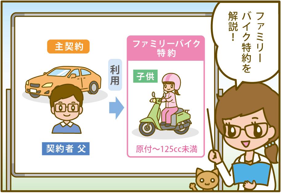 自動車保険のファミリーバイク特約