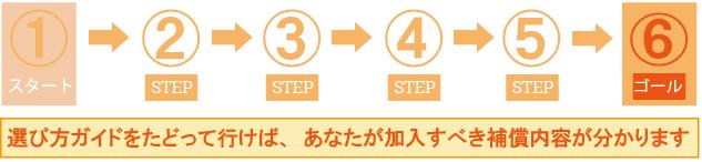 ステップ6 保険会社を選ぶ!