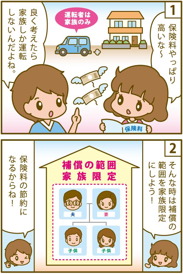 自動車保険 家族限定 範囲